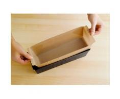 WENKO Backpapier Antihaft-Backform-Zuschnitt, mit Antihaft-Beschichtung, Set bestehend aus 1x rund, eckig braun Backhelfer Kochen Backen Haushaltswaren