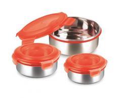 KING Frischhaltedose, (6 tlg.) silberfarben Frischhaltedose Aufbewahrung Küchenhelfer Haushaltswaren