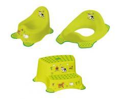 keeeper Töpfchen Funny Farm, (Set, 3 tlg.), Kinderpflege-Set - Töpfchen, Toilettensitz und Tritthocker; Made in Europe grün Baby Baby-Toilette Körperpflege Gesundheit