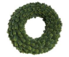Botanic-Haus Kunstkranz Edel-Adventskranz einseitig grün Kunstkränze Kunstpflanzen Wohnaccessoires