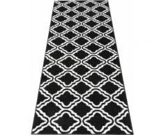 Läufer, Debora, my home, rechteckig, Höhe 13 mm, maschinell gewebt schwarz Teppichläufer Läufer Bettumrandungen Teppiche