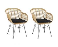Homexperts Esszimmerstuhl Ylvi, Sitzschale aus Kunststoff in Rattan-Optik mit Sitzkissen Stoffbezug beige Esszimmerstühle Stühle Sitzbänke
