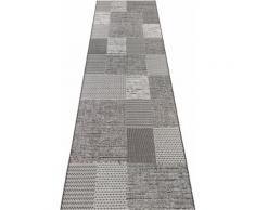 Läufer Agen ELLE Decor rechteckig Höhe 3 mm maschinell gewebt, grau, grau-creme