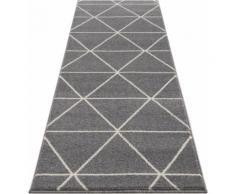 DELAVITA Läufer Morten, rechteckig, 17 mm Höhe, kurzer weicher Flor grau Teppichläufer Bettumrandungen Teppiche