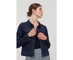 Ichi Jeansjacke IHSTAMPE JA 20111235, Trendige mit Knopfleiste blau Damen