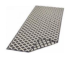 Läufer, Nizza, bougari, rechteckig, Höhe 5 mm, maschinell gewebt schwarz Küchenläufer Läufer Bettumrandungen Teppiche