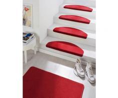 Stufenmatte Fancy HANSE Home stufenförmig Höhe 7 mm maschinell getuftet, rot, rot