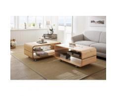 Premium collection by Home affaire Couchtisch Emil, auf Rollen, Breite 110 cm beige Couchtische eckig Tische Tisch