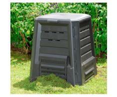 KHW Komposter schwarz Garten Balkon