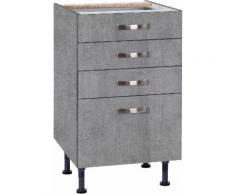 OPTIFIT Unterschrank Cara, Breite 50 cm, mit Vollauszügen und Soft-Close-Funktion grau Unterschränke Küchenschränke Küchenmöbel
