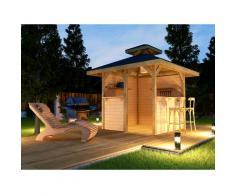 weka Pavillon Gartenoase, (Set), BxT: 294x294 cm, inkl. Brüstung beige Pavillons Garten Balkon