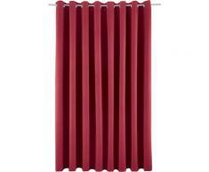 my home Verdunkelungsvorhang Solana, Vorhang, Fertiggardine, Gardine, Breite 280 cm, verdunkelnd rot Wohnzimmergardinen Gardinen nach Räumen Vorhänge
