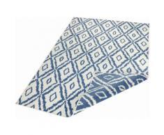 bougari Teppich Rio, rechteckig, 5 mm Höhe, Wendeteppich, Rauten Design, In- und Outdoor geeignet, Wohnzimmer blau Esszimmerteppiche Teppiche nach Räumen