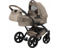 knorr-baby Kombi-Kinderwagen Set, »Voletto Tupfen, sand-creme«, braun, Unisex, sand-creme