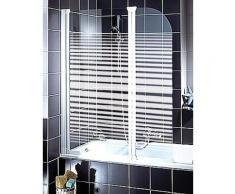 Schulte Badewannenaufsatz Wega, Breite: 116 cm, mit Sichtschutz silberfarben Duschwände Duschen Bad Sanitär