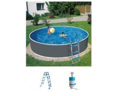 MyPool Rundpool Standard, (Set), 3-tlg., ØxH: 300x90 cm grau Swimmingpools Pools Planschbecken Garten Balkon
