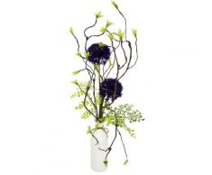 I.GE.A. Kunstblume Arrangement Allium, Vase aus Keramik lila Künstliche Zimmerpflanzen Kunstpflanzen Wohnaccessoires