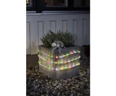 KONSTSMIDE LED Lichterschlauch mit Lichtsensor und Timer, farblos, Neutral, transparent