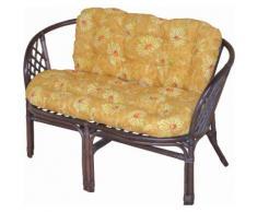 Home affaire Sitzbank, aus handgeflochtenem Rattan, mit Kissen braun Sitzbank Holzbänke Sitzbänke Stühle