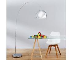 Brilliant Leuchten,Bogenlampe NEIREIDE silberfarben Designerleuchten Lampen Leuchten