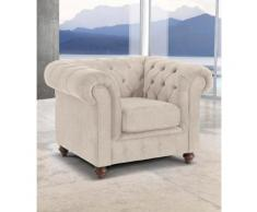 Premium collection by Home affaire Sessel Chesterfield beige Hocker SOFORT LIEFERBARE Möbel