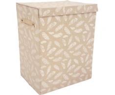 Franz Müller Flechtwaren Wäschebox TexBox (1 Stück) beige Wäschetonnen Wäschekörbe Wäschetruhen Badmöbel Wäschesammler