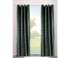 my home Vorhang Velvet Foil, Samt grün Wohnzimmergardinen Gardinen nach Räumen Vorhänge