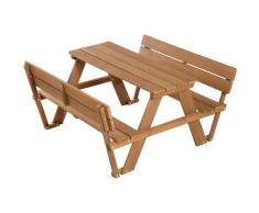 Roba Kindersitzgruppe Picknick for 4 Outdoor Deluxe Teakholz (Set 1-tlg), braun, teak