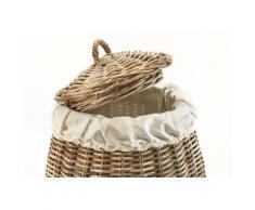 locker Wäschekorb Pear, mit abnehmbarem Deckel braun Wäschetruhen Wäschekörbe Badmöbel Wäschetruhe