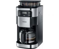 Severin Kaffeemaschine mit Mahlwerk KA 4810, Permanentfilter, 1x4, Mahlwerk-Deaktivierungsfunktion silberfarben Kaffee Espresso SOFORT LIEFERBARE Haushaltsgeräte
