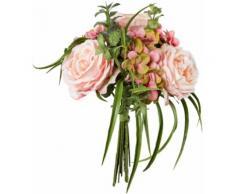 Creativ green Kunstpflanze Bouquet aus Rosen und Hortensien rosa Künstliche Zimmerpflanzen Kunstpflanzen Wohnaccessoires