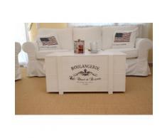 Uncle Joe´s Truhentisch Boulangerie weiß Holz-Beistelltische Holztische Tische Tisch