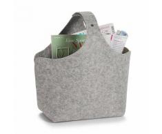 Zeller Present Aufbewahrungskorb, Filz, 32x18x43 grau Aufbewahrungskorb Körbe Boxen Regal- Ordnungssysteme Küche Ordnung