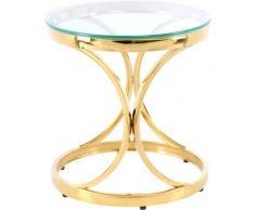 Kayoom Beistelltisch Weyda 125, filigranes Design farblos Runde Formen Aktuelle Wohntrends Tisch