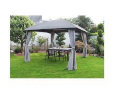 Leco Pavillon Milena, (Set), BxT: 330x330 cm grau Pavillons Garten Balkon