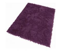 KiNZLER Fellteppich Pireo, rechteckig, 70 mm Höhe, synthetischer Flokati, Wohnzimmer rot Schlafzimmerteppiche Teppiche nach Räumen
