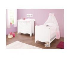 Pinolino Babyzimmer-Komplettset Fleur (Set 2-tlg), weiß, weiß
