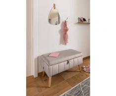 my home Truhenbank Amira, mit Staufach, in 3 Bezugsqualitäten feiner Steppung beige Truhenbänke Sitzbänke Stühle