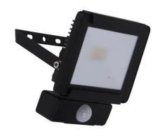 näve LED Außen-Wandleuchte STRAHLER, schwarz, schwarz-transparent