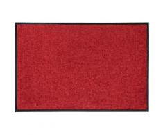 Fußmatte Salonloewe Uni Salonloewe rechteckig Höhe 7 mm, rot, Neutral, rot