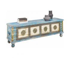 Home affaire Sitztruhe blau Stühle und Sitzbänke Möbel mit Aufbauservice