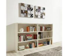 Raumteilerregal Toro, 6 Fächer, Breite 185 cm weiß Raumteiler Regale