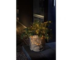 KONSTSMIDE LED-Lichterkette, 80 St.-flammig, LED Globelichterkette, warm weiße Dioden schwarz LED-Lichterkette LED-Lampen LED-Leuchten Lampen Leuchten sofort lieferbar