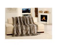 Wohndecke Kodiakbär Felloptik, Gözze grau Kunstfelldecken Decken Wohndecken