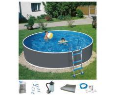 MyPool Rundpool Standard (Set) grau Swimmingpools Pools Planschbecken Garten Balkon