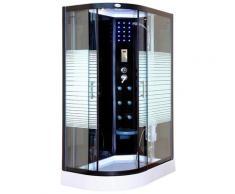 HOME DELUXE Dampfdusche Black Pearl Komplettdusche, mit LED Beleuchtung und Radio schwarz Duschkabinen Duschen Bad Sanitär