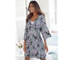 s.Oliver Kimono, in Wickeloptik schwarz Damen Kimono Nachtwäsche Wäsche