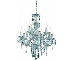 TRIO Leuchten Kronleuchter KRONE, E14, Hängeleuchte, Pendellampe, Pendelleuchte farblos Deckenleuchten SOFORT LIEFERBARE Lampen