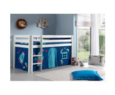 Vipack Hochbett Pino, wahlweise mit Rutsche blau Kinder Hochbetten Kinderbetten Betten