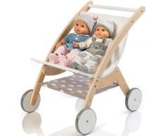 """MUSTERKIND Puppen-Zwillingsbuggy """"Barlia natur/weiß"""", weiß, Damen, natur-weiß"""